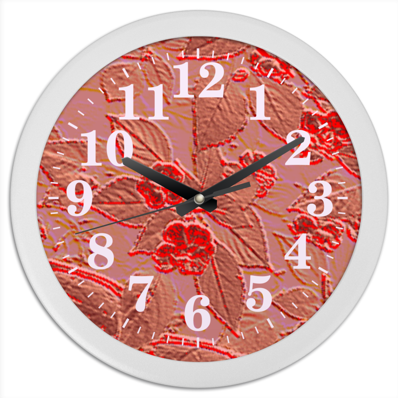 Printio Часы круглые из пластика Цветы на солнце.