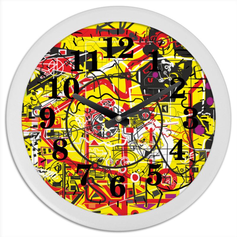 Printio Часы круглые из пластика Паутинка