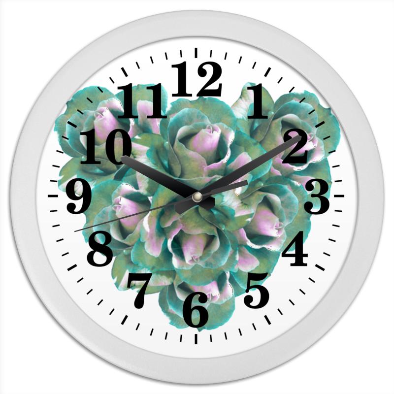 Printio Часы круглые из пластика Прекрасное сердце