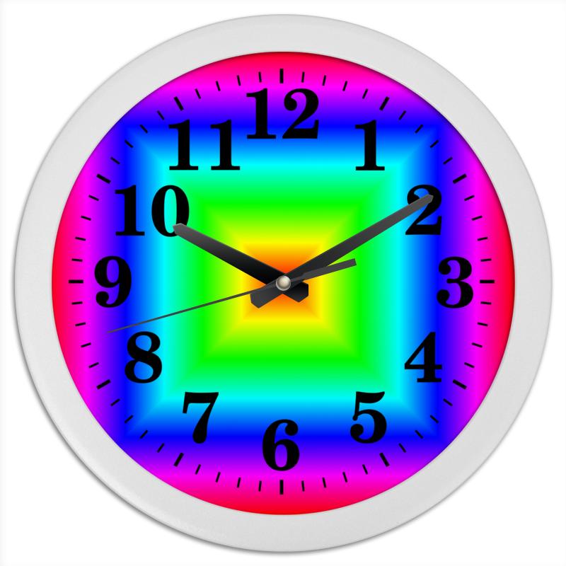 Printio Часы круглые из пластика Радуга