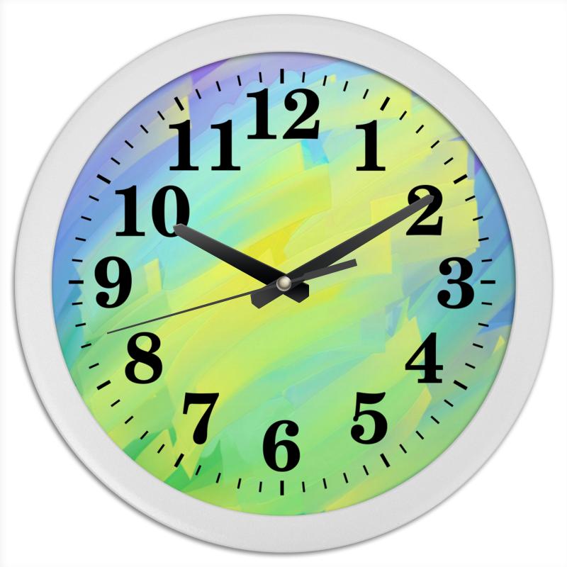 Printio Часы круглые из пластика Природное явление абстракция