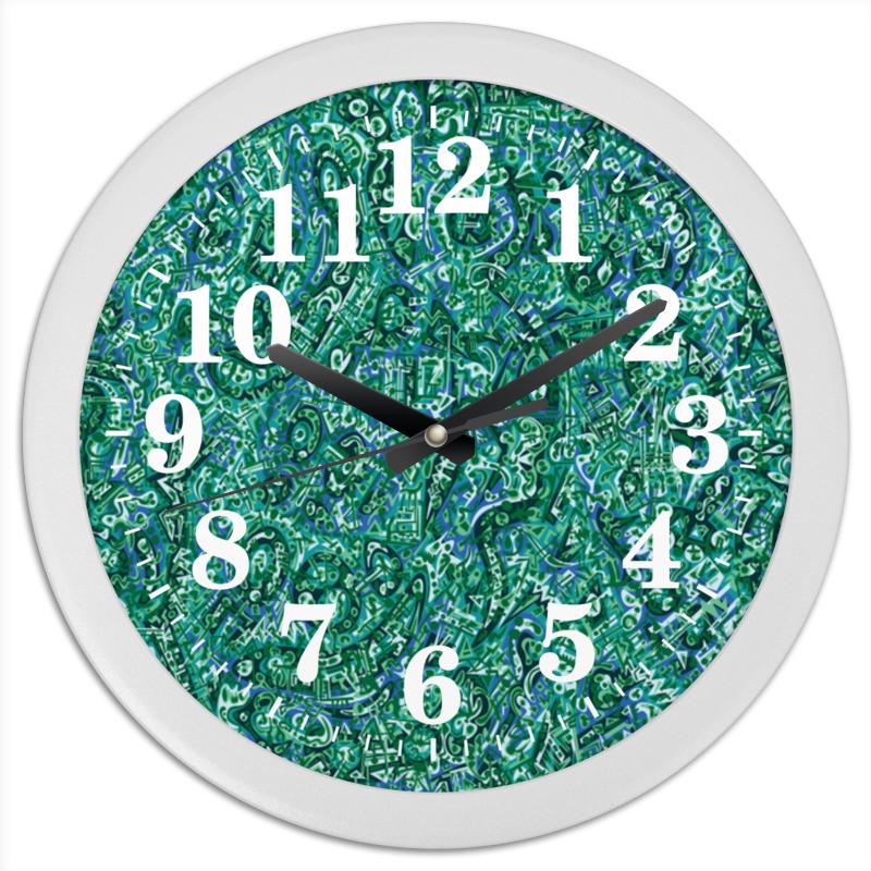 Printio Часы круглые из пластика Бирюзовый