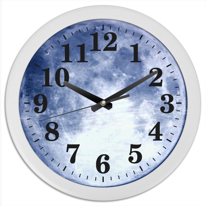 Printio Часы круглые из пластика - луна - часы paprcuts watch девочка и луна 0l 00039732
