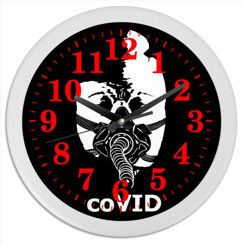 Printio Часы круглые из пластика Covid