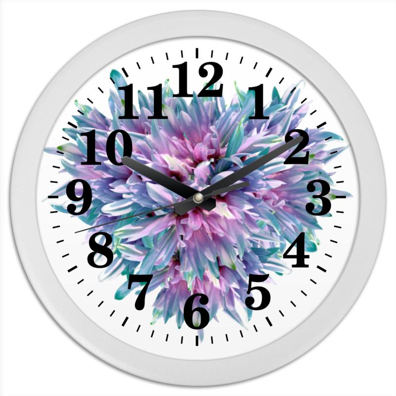 Printio Часы круглые из пластика Акварельное буйство
