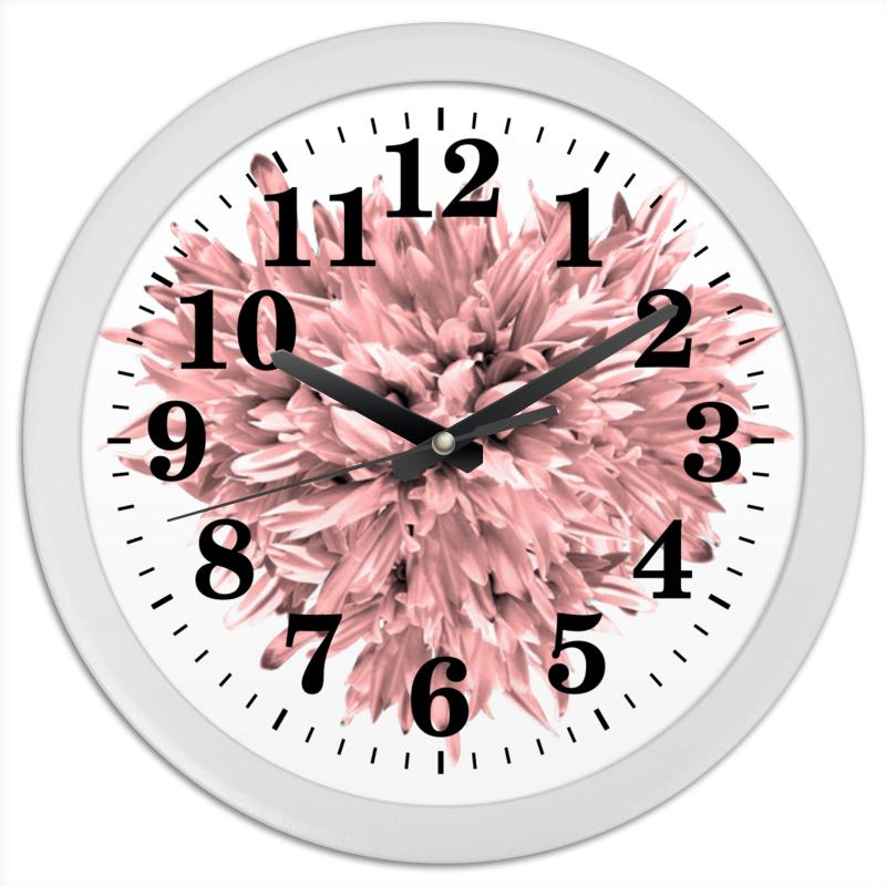 Printio Часы круглые из пластика Стильный розовый