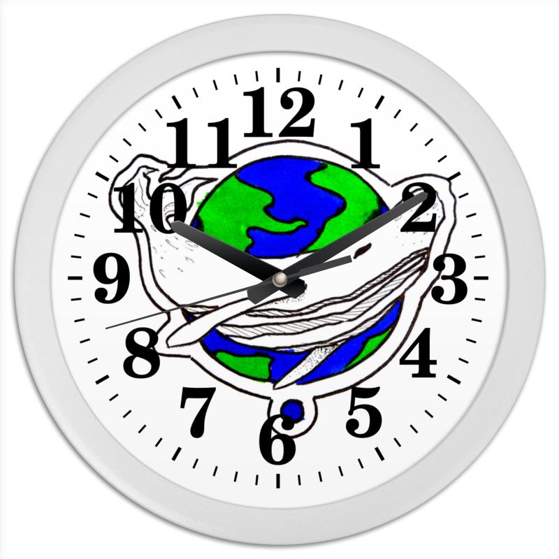 Printio Часы круглые из пластика Китпланета