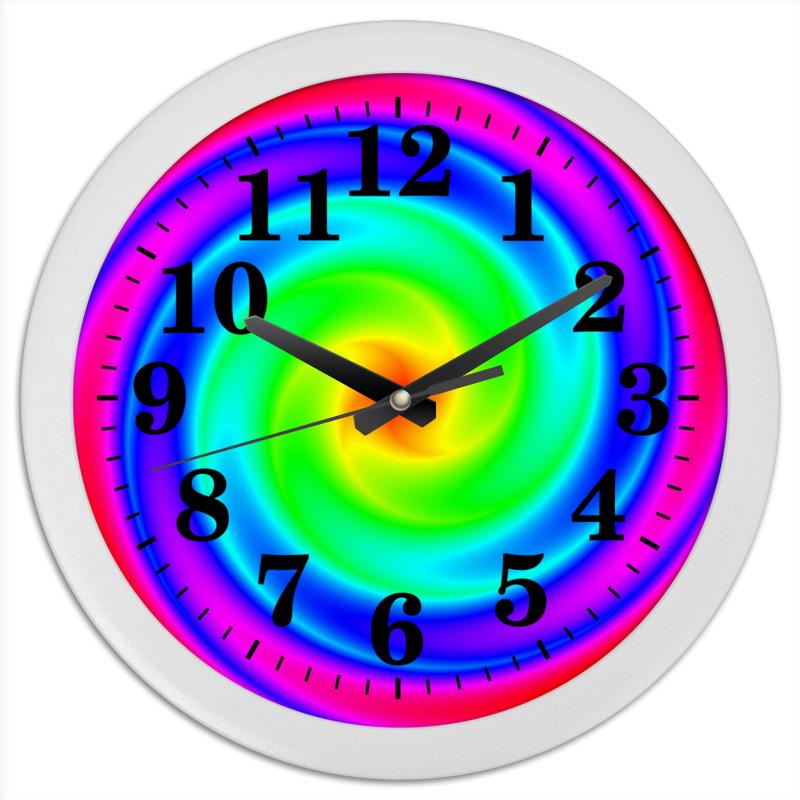 Printio Часы круглые из пластика Абстракция спираль