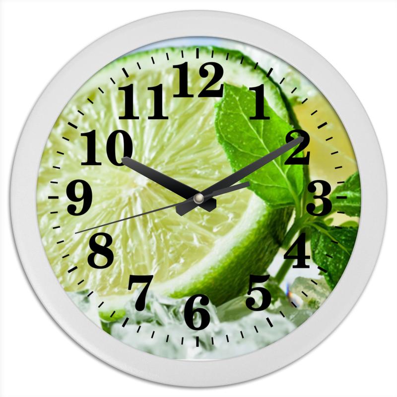 Printio Часы круглые из пластика Лаймы