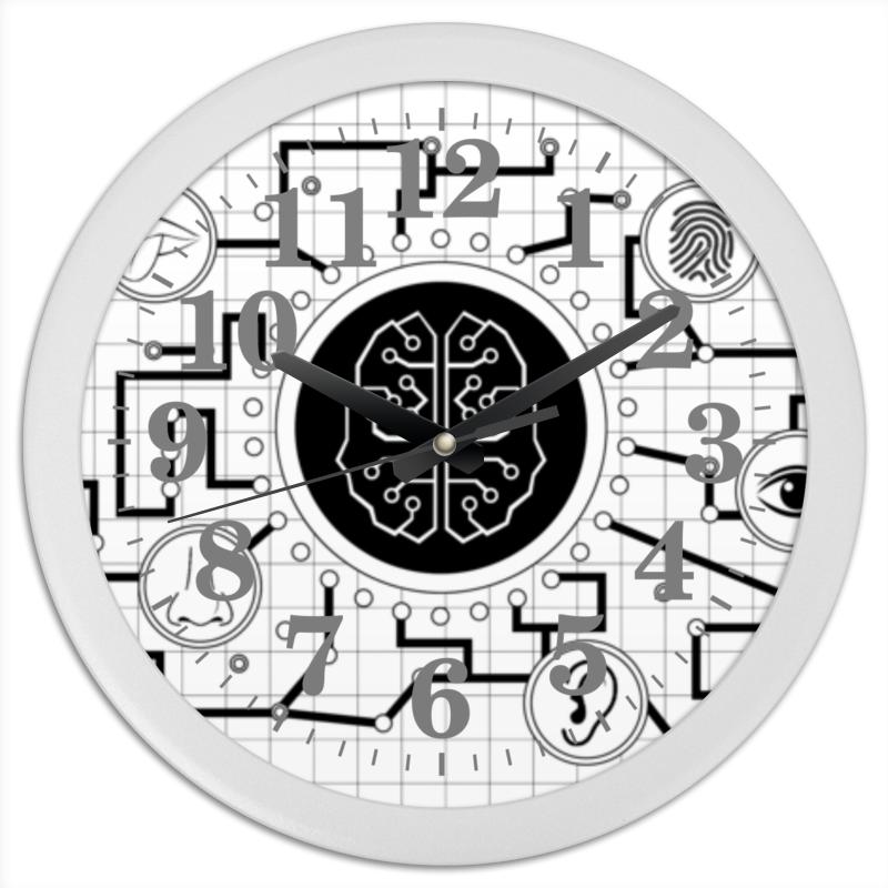 Фото - Printio Часы круглые из пластика Мозговая связь printio рюкзак 3d мозговая связь