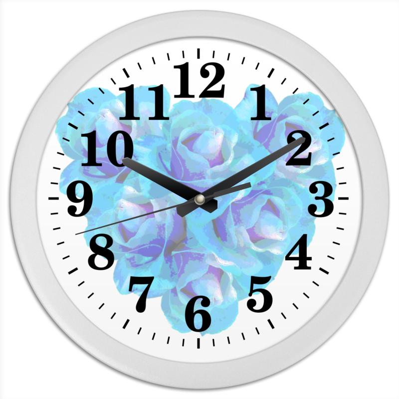 Printio Часы круглые из пластика Голубая пастель
