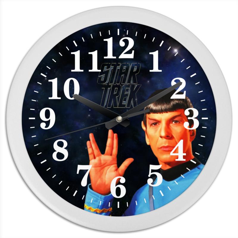 Printio Часы круглые из пластика Звездный путь-star treck