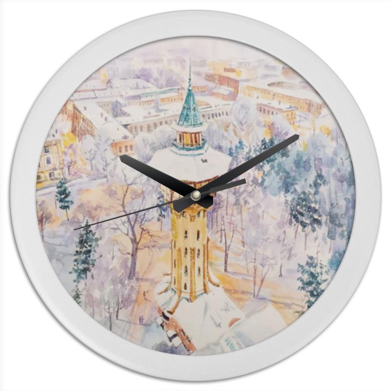 Printio Часы круглые из пластика Сказки снега