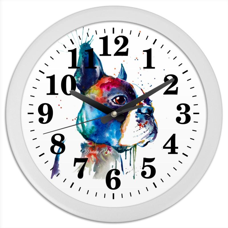 Printio Часы круглые из пластика Собачка