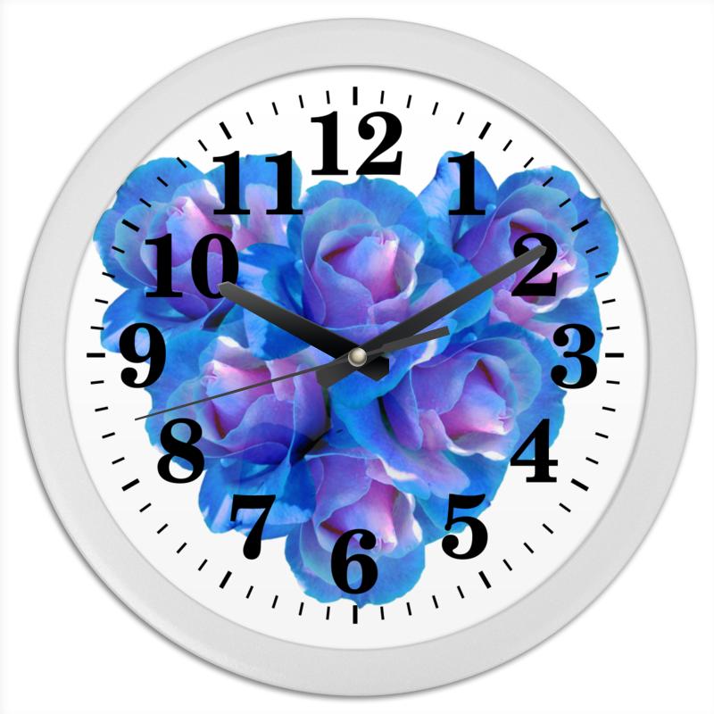 Printio Часы круглые из пластика Яркое сердце