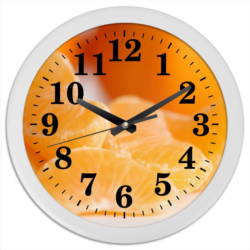 Printio Часы круглые из пластика Апельсинки