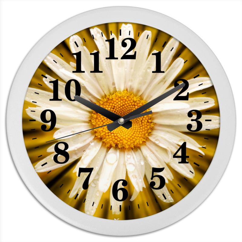 Printio Часы круглые из пластика Часы ромашка
