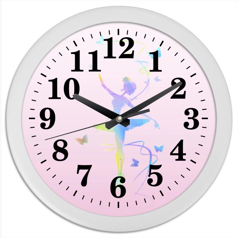 Printio Часы круглые из пластика Балерина