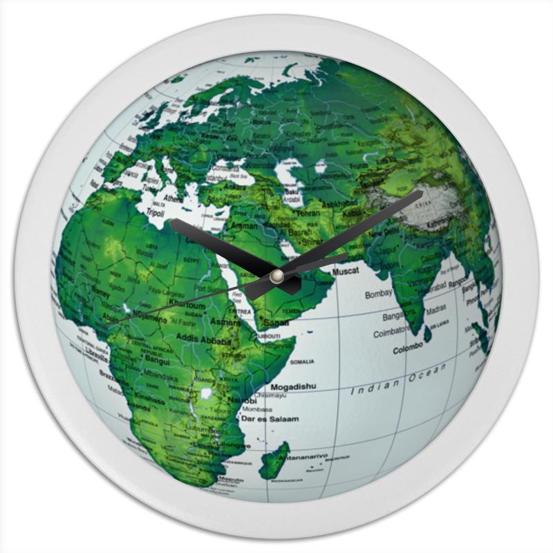 Printio Часы круглые из пластика Люблю планету!