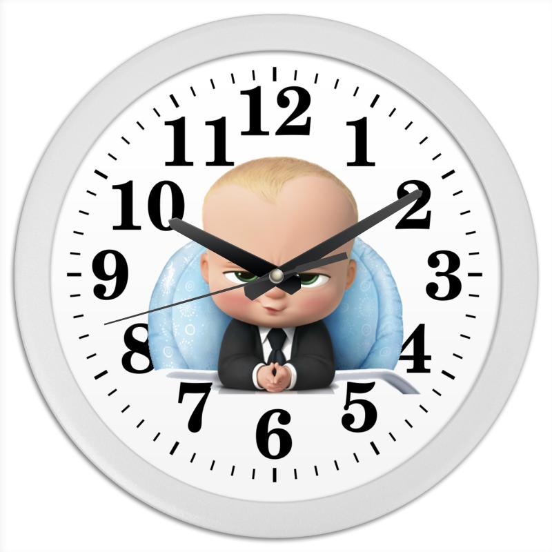 Printio Часы круглые из пластика Босс молокосос