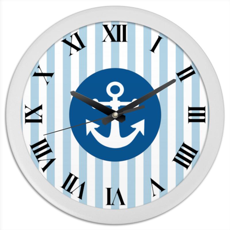 Printio Часы круглые из пластика Морской волк