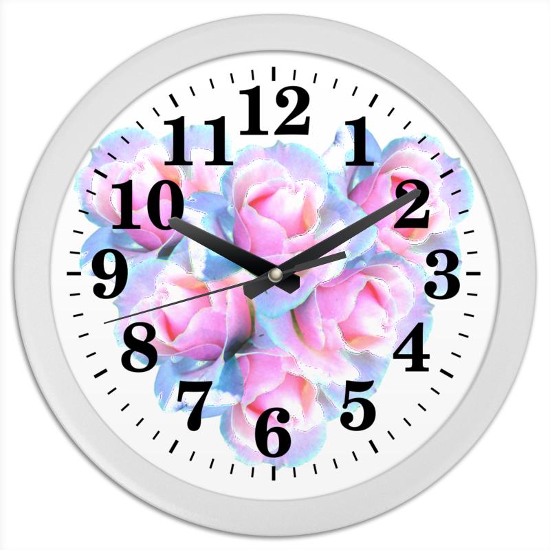 Printio Часы круглые из пластика Нежное сердце