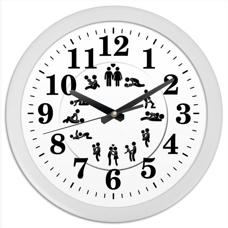 Printio Часы круглые из пластика Любовь