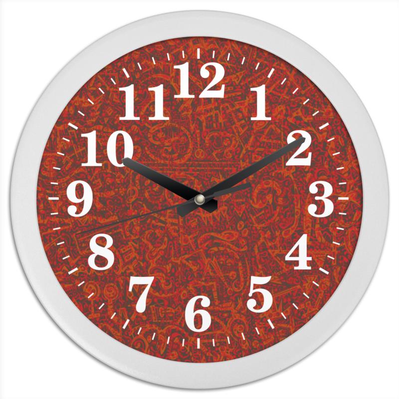 Printio Часы круглые из пластика Бархатный