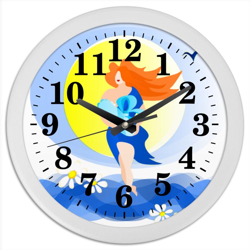Printio Часы круглые из пластика Рождение новой жизни