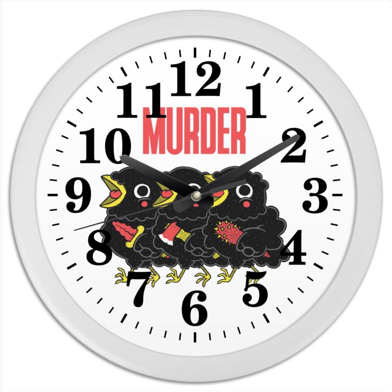 Фото - Printio Часы круглые из пластика Murder printio часы круглые из пластика одиночество