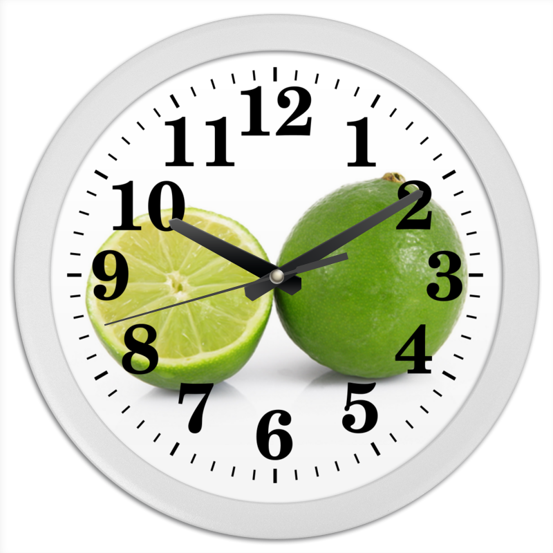 Фото - Printio Часы круглые из пластика Лаймы printio часы круглые из пластика одиночество