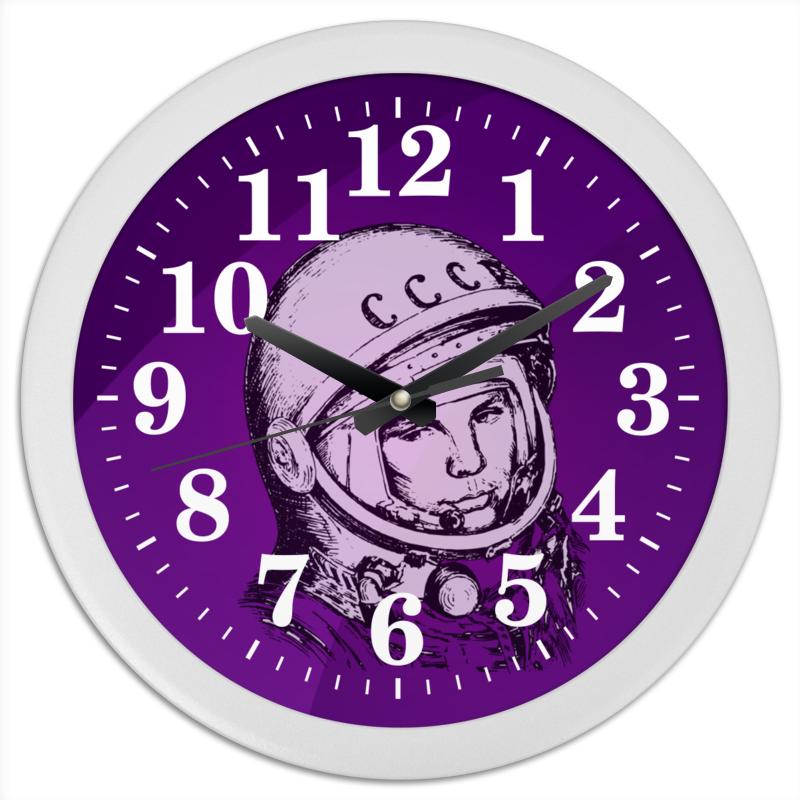 Printio Часы круглые из пластика Гагарин