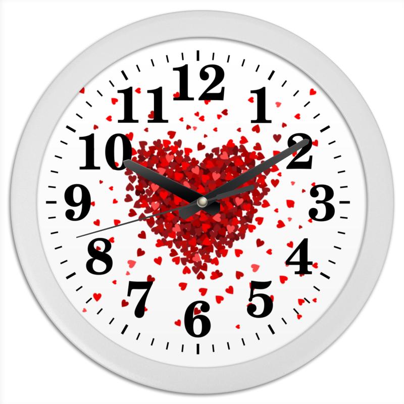 Printio Часы круглые из пластика Hearts