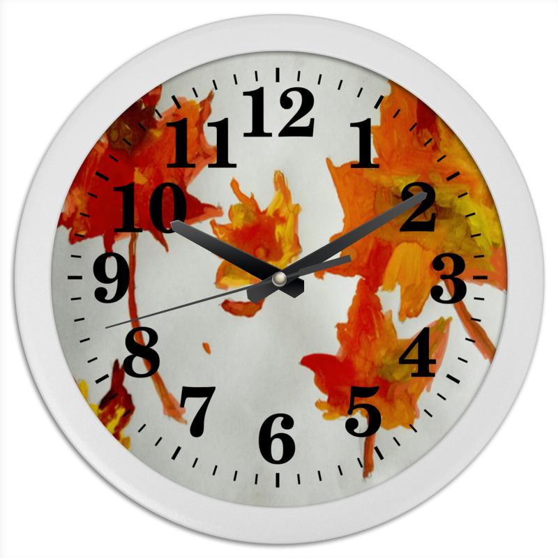 Printio Часы круглые из пластика Осенние листья