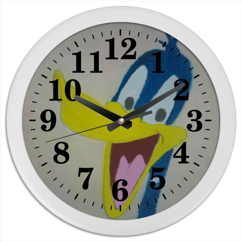 Printio Часы круглые из пластика Утка дак