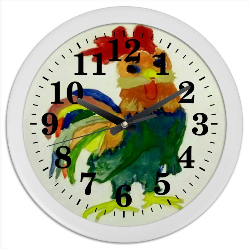 Printio Часы круглые из пластика Петушок