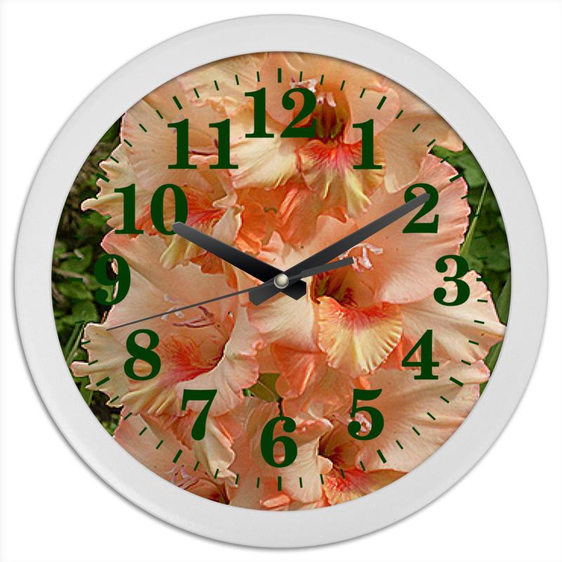 Printio Часы круглые из пластика Цветочные стрелки.