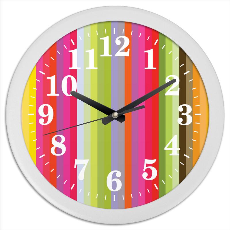 Printio Часы круглые из пластика Флюид 1