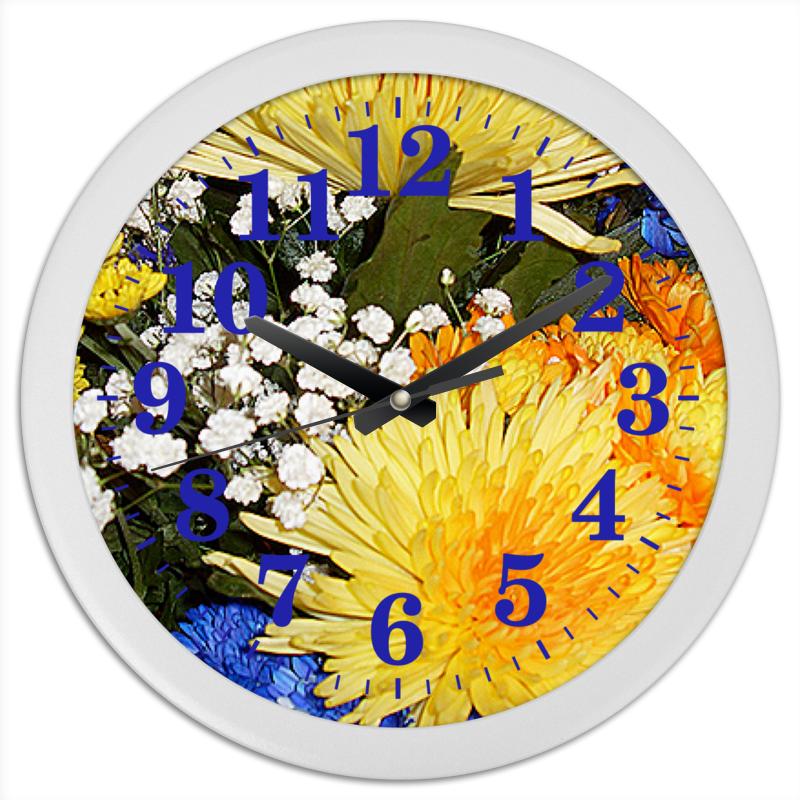 Printio Часы круглые из пластика Яркие брызги.
