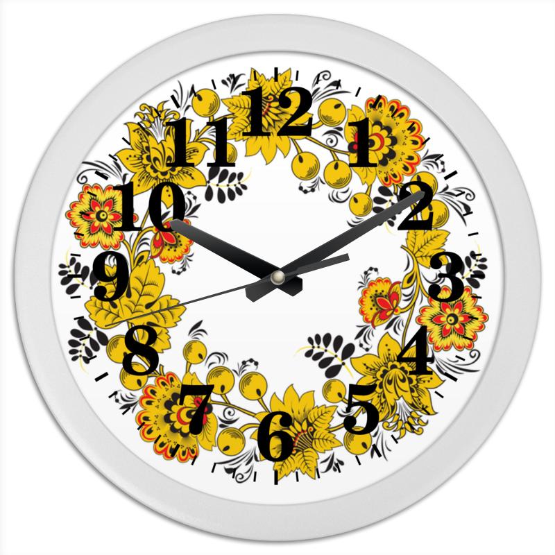 Printio Часы круглые из пластика Русский орнамент