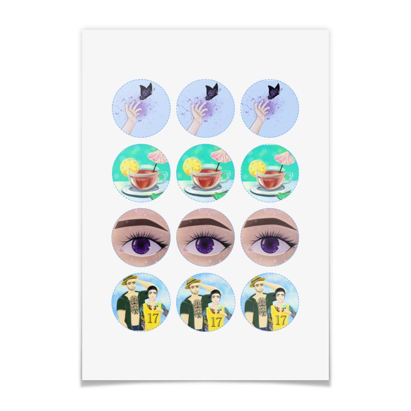 Printio Наклейки круглые 5×5 см На все случаи