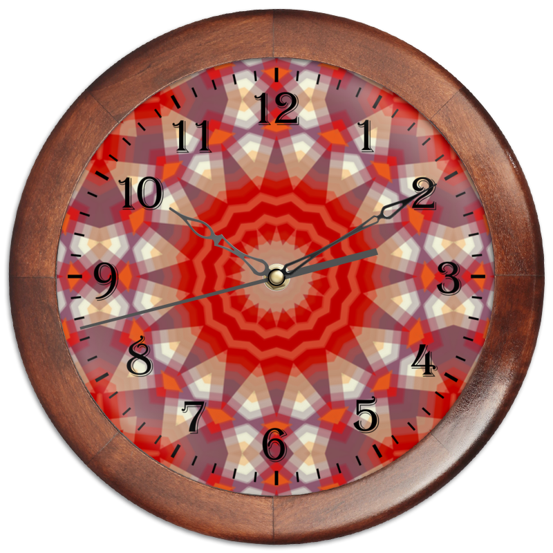 Printio Часы круглые из дерева Sihaya