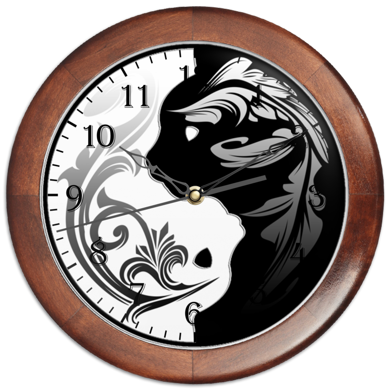 Фото - Printio Часы круглые из дерева Котыфеи printio часы круглые из дерева крыса и сыр