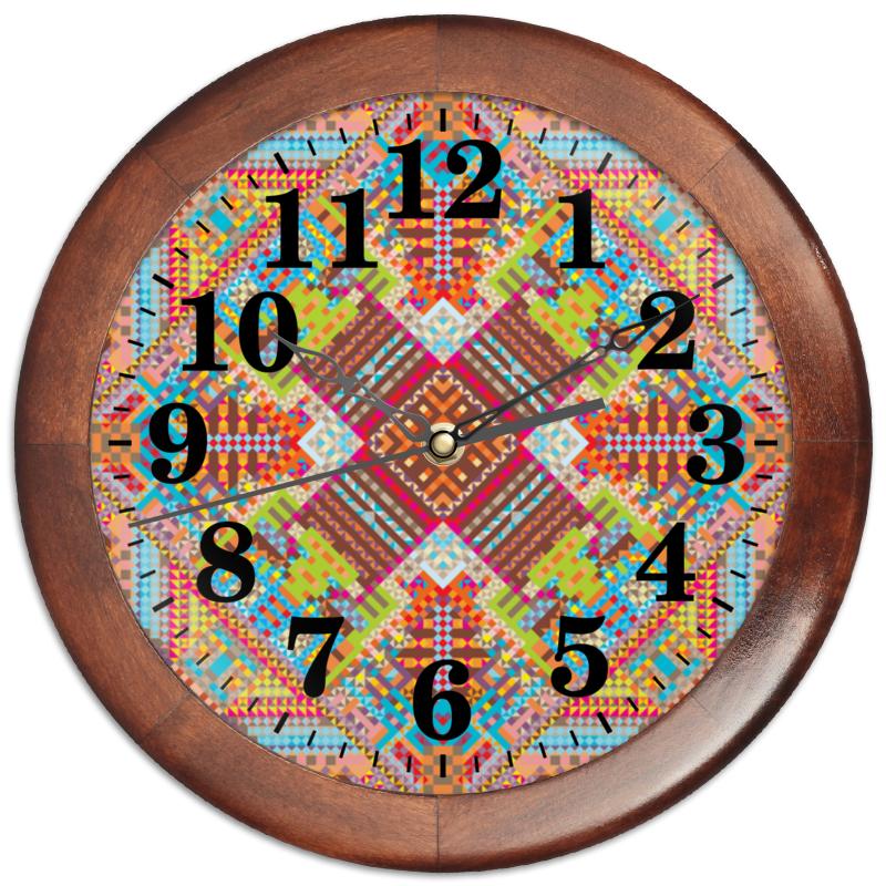 Printio Часы круглые из дерева с абстрактным рисунком printio сумка с абстрактным рисунком