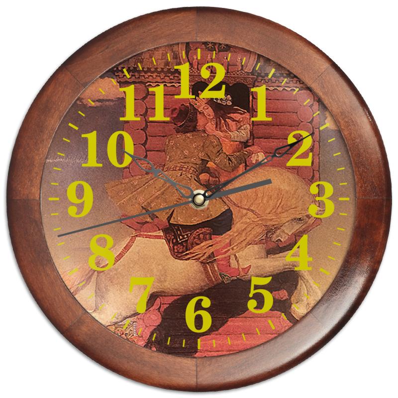Printio Часы круглые из дерева Сивка-бурка. сивка бурка сказки