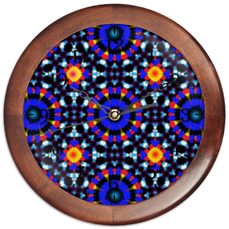 Printio Часы круглые из дерева Ультрамарин