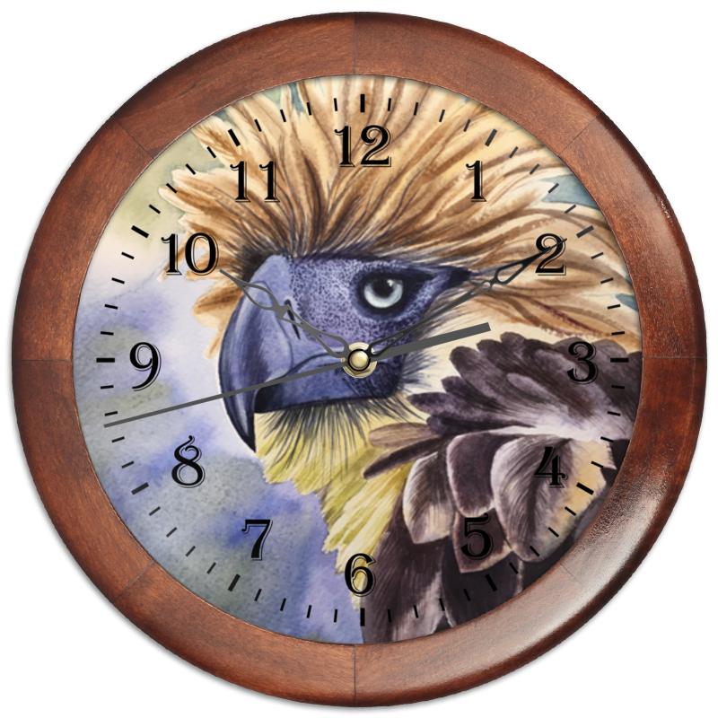 Printio Часы круглые из дерева Филиппинский орел