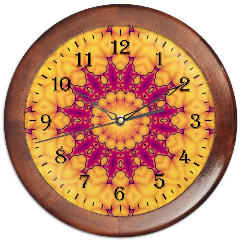 Printio Часы круглые из дерева Helicologie