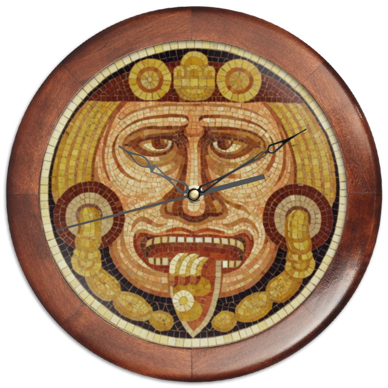 Фото - Printio Часы круглые из дерева Этно-часы printio часы круглые из дерева крыса и сыр
