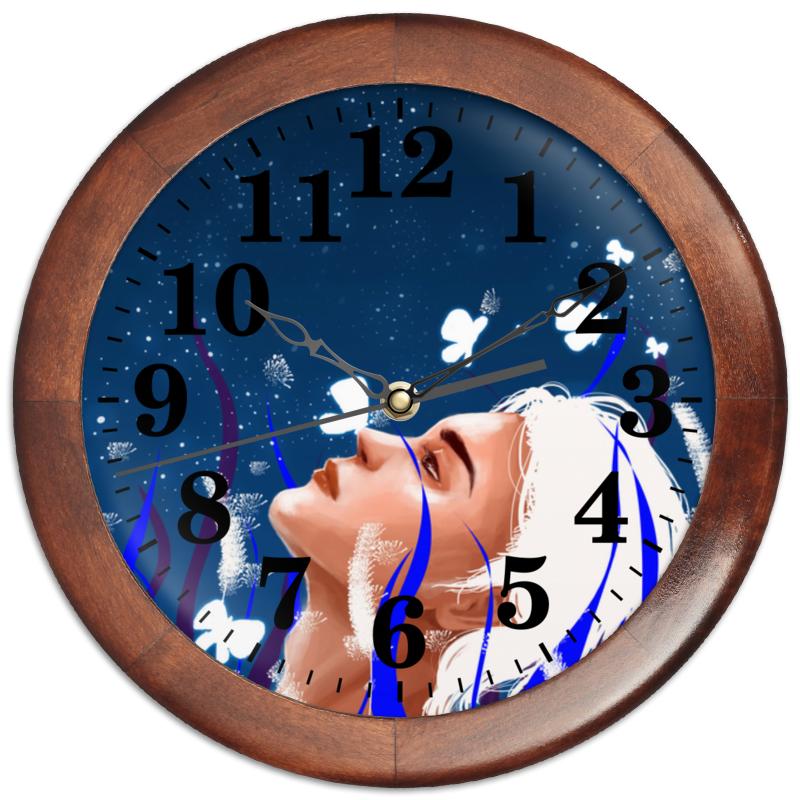 Printio Часы круглые из дерева Light